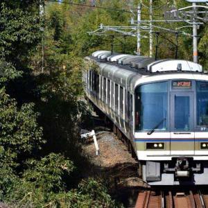 奈良線 103系 221系 棚倉 上狛 椿井.大塚山古墳 2021.2.9