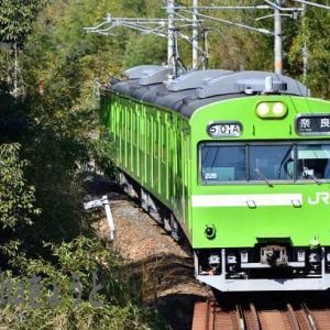 奈良線 103系 NS409 205系 上狛 棚倉 椿井大塚山古墳 2021.2.20
