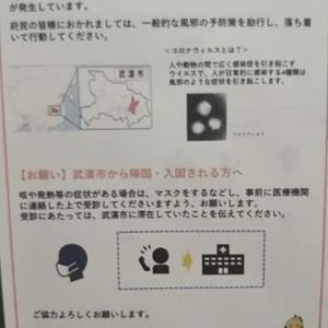新型コロナウイルス。谷町線駒川中野駅に注意を呼び掛けるポスターが。中国人観光客の行先1位は東京ではなく大阪。御堂筋線に乘る4分間が緊張時間。これから日本国内でパンデミックスへ。