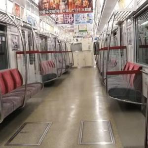 大阪メトロの御堂筋線がついに廃止前の三江線状態に。午後11時15分大国町発天王寺行き1号車。大国町→天王寺ついに乗客はえむびーまんただ一人。