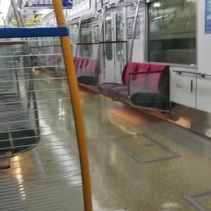 本日大阪メトロ御堂筋線15時27分天王寺発新大阪行き2号車。あと1歩でえむびーまん専用車両になるところでした。残念。