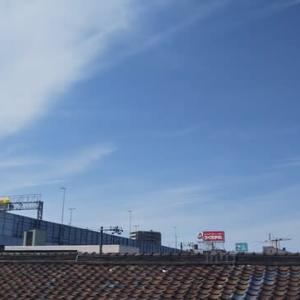本日大阪東住吉区駒川上空地震雲。