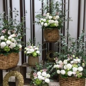 高松MITSUKOSHI様へGoー❣️玄関おもてなし花に癒されて…写真撮影でした✌️