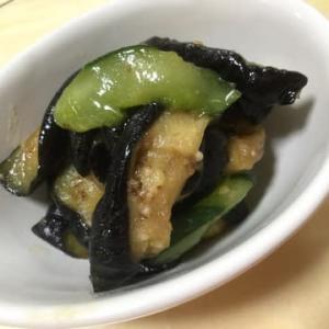 【#茄子の辛子漬け】完成❣️元気畑の朝どり【こだわりの野菜】ミニ胡瓜🥒も添えて…