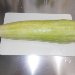 週末農業レシピ(白はぐらうりのみそニンニク漬け)
