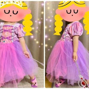 3歳の女の子のお誕生日プレゼントに『ディズニープリンセスのラプンツェル風ドレス』*Claire's(クレアーズ)で購入しました♪
