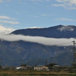 信州にも雪の山が・・