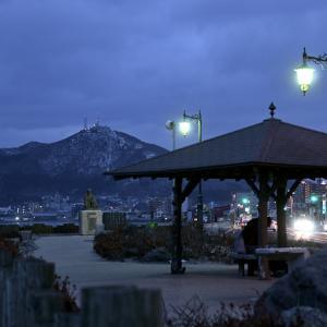 1月28日の朝の啄木小公園