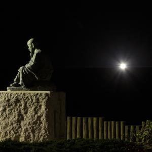 9月21日夜明け前の啄木小公園