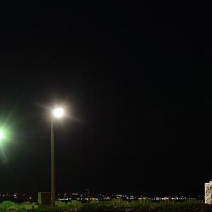 9月22日夜明け前の啄木小公園