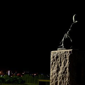 10月23日 夜明け前の啄木小公園