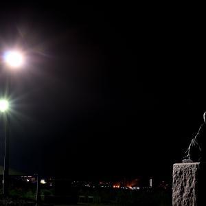 6月19日 夜明け前の啄木小公園