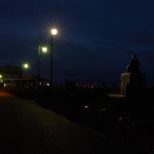 6月21日 夏至の夜明け前の啄木小公園