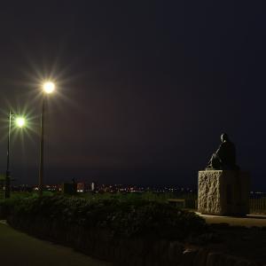 6月23日 夜明け前の啄木小公園
