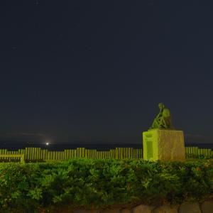 9月25日 夜明け前の啄木小公園
