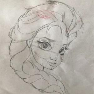 エルサを描くのは難しい…youtubeでお絵かきの巻