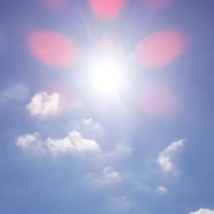 太陽曼荼羅に集まる天使と龍雲(19.6.3.月)