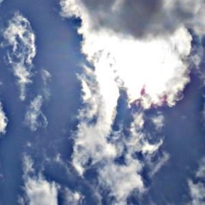 何故か太陽が長く写る。ものすごく存在感の濃い異次元さんたち。(20.2.18.火)
