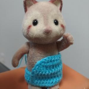 初心者がかぎ針編みでシルバニアのドール服を編んでみた74