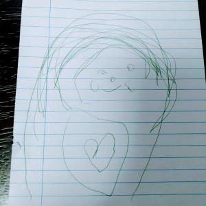 もうすぐ4歳になる娘が描いたママとパパ