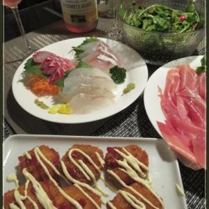 嵐の前に・・の夕飯