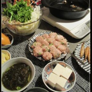 鶏団子鍋で週末Dinner
