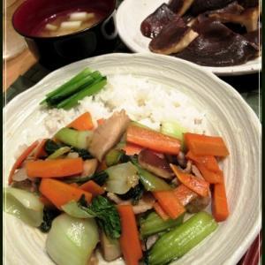 椎茸と野菜の旨煮丼