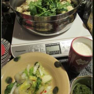 鶏団子鍋で暖まる♪