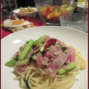 野菜たっぷり☆セロリとベーコンのスパゲティ