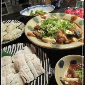 ヒラメのアラの煮付けと煮こごり