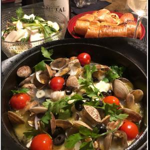 アクアパッツァとカブのサラダ