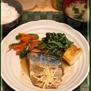 鯖の味噌煮の和定食
