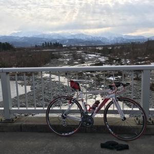 雪が無くなったので岩瀬まで