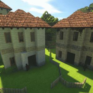 Minecraftで斜め建築をする時に作ったテンプレート