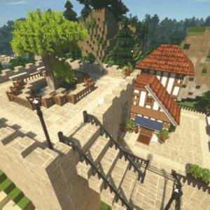 Minecraftで街作り-入り江の街建築日記2