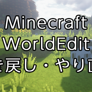 MinecraftプラグインWorldEditで出来ること『巻き戻し・やり直し』