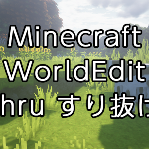 【Minecraft】WorldEditの使い方:壁をすり抜ける「thru」