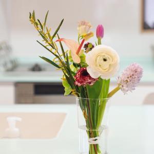 お花の定期便と最近手放した物4つ。