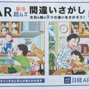 【続報2】2021年6月20日付 日経新聞AR 超ムズ間違いさがし「父の日」篇 とうとう9個目を発見!