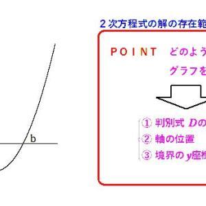 数Ⅰ 2次関数 2次方程式 解の存在範囲 探偵的解法