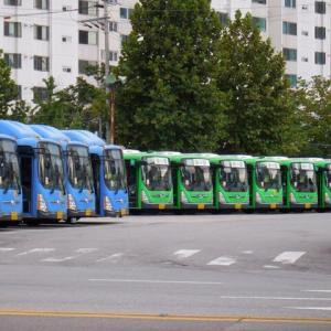 ソウルの市内バスの車庫