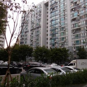 ソウルの庶民のマンション団地