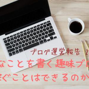 【ブログ運営報告】好きなことを書く趣味ブログで稼ぐことはできるのか!?【2カ月目】