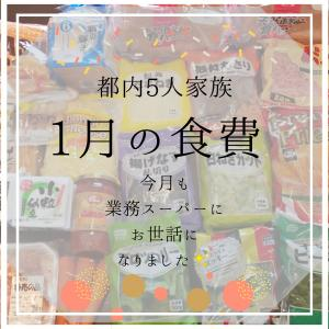 【都内5人家族】1月の食費と節約に不可欠な業スー