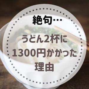 【絶句…】うどん2杯に1300円かかった理由