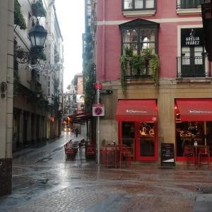 石畳が冷たい旧市街を散歩 @ビルバオ