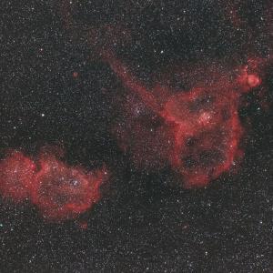 IC1805~1848再処理と月夜のM45(QBPフィルター)