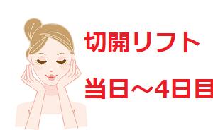 【切開フェイスリフト】ダウンタイム(当日~4日目)