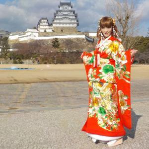 姫路城へ打掛の振袖を着て行って来ました!