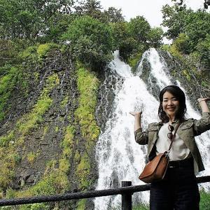 """オシンコシンの滝/斜里町/日本の滝100選にも選ばれた世界自然遺産""""知床""""の大瀑布!"""